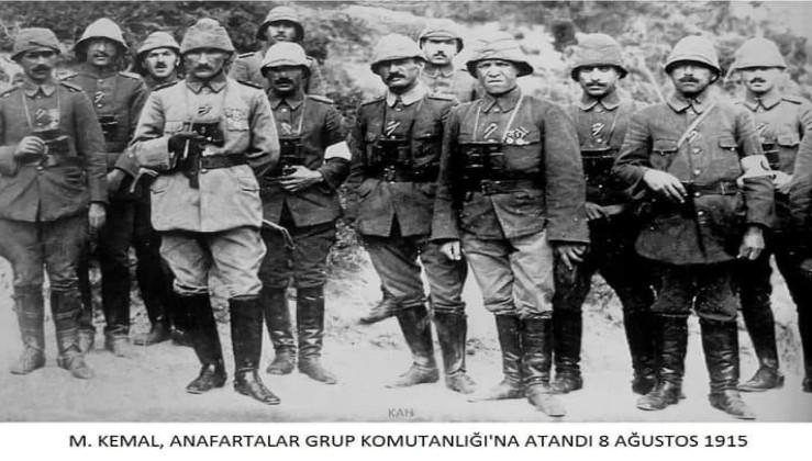 Tarihte Bugün: Mustafa Kemal Anafartalar Grup Komutanlığına atandı