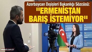 Azerbaycan Dışişleri Bakanlığı Sözcüsü Leyla Abdullayeva: ''Ermenistan barış istemiyor''
