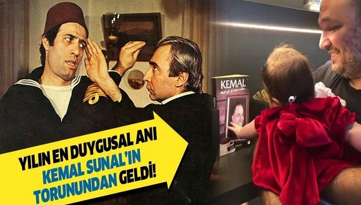 Kemal Sunal'ın torunundan duygusal hareket! Ali Sunal'ın kızı Kemal Sunal'ı görünce...