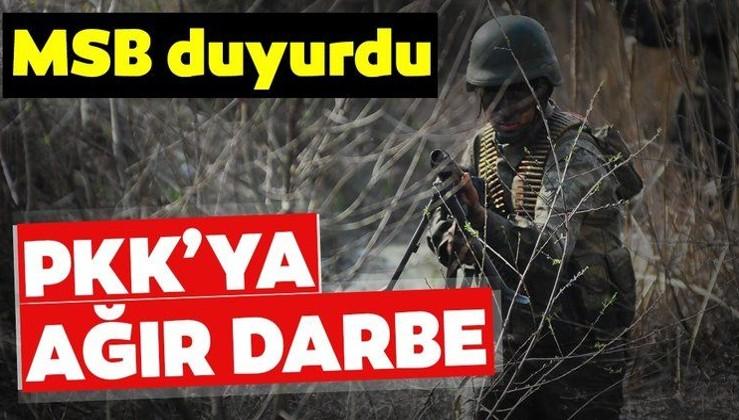 Son dakika: MSB duyurdu! Barış Pınarı bölgesinde PKK'ya ağır darbe!