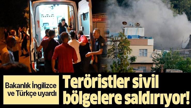 Son dakika! MSB:Teröristler sivil bölgelere saldırıyor.
