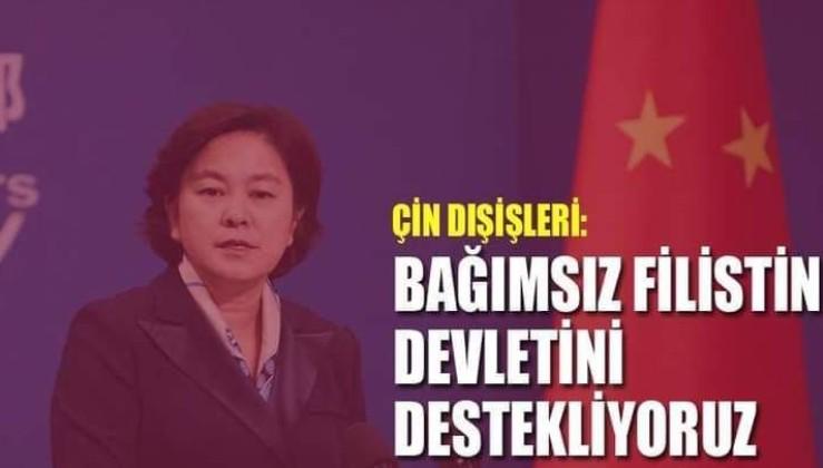 Çin: Bağımsız Filistin devletinin kurulmasını destekliyoruz