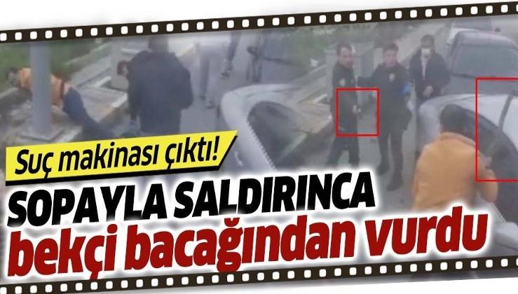 Son dakika: Arnavutköy'de bekçiye sopayla saldıran Y.D. suç makinası çıktı! Olay anı kamerada