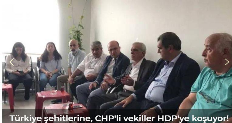 3 şehit verdiğimiz gün CHP'den HDP'li Türk'e dayanışma ziyareti