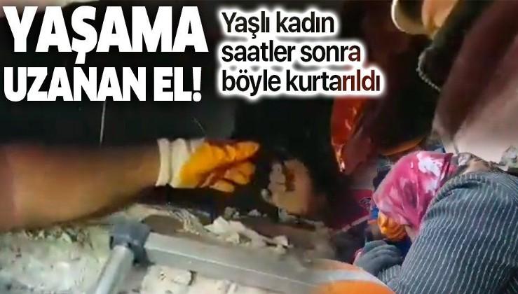 SON DAKİKA: İzmir'de bir kişinin enkaz altından kurtarıldığı anlar böyle görüntülendi: Canla başla, Bütün imkanlarımızla