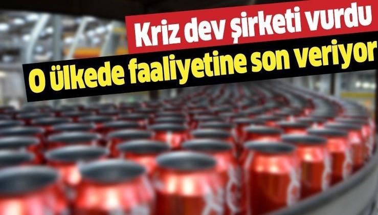 Coca Cola o ülkedeki fabrikasını kapatıyor! Kriz dev şirketi vurdu