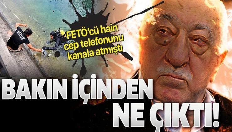 FETÖ'cü hain cep telefonunu kanala atmıştı! İçinden Elebaşı Fetullah Gülen'in ses kayıtları çıktı!