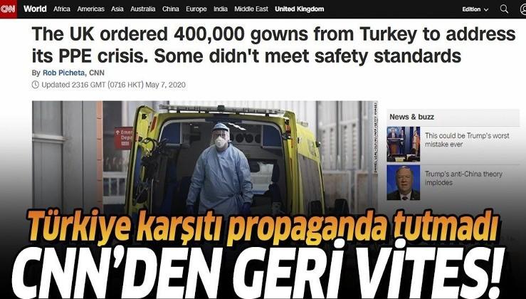 CNN International Türkiye'den İngiltere'ye gönderilen koruyucu giysilere dair yanıltıcı haberini düzeltti