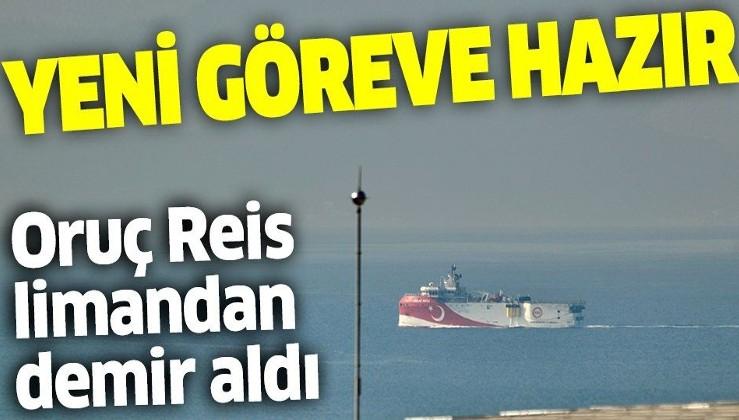 Son dakika: Oruç Reis, ikmal için beklediği Antalya Limanı'ndan ayrıldı