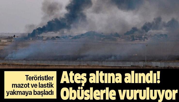 Son dakika: Terör hedefleri obüslerle vuruluyor! Teröristler mazot ve lastik yakmaya başladı.