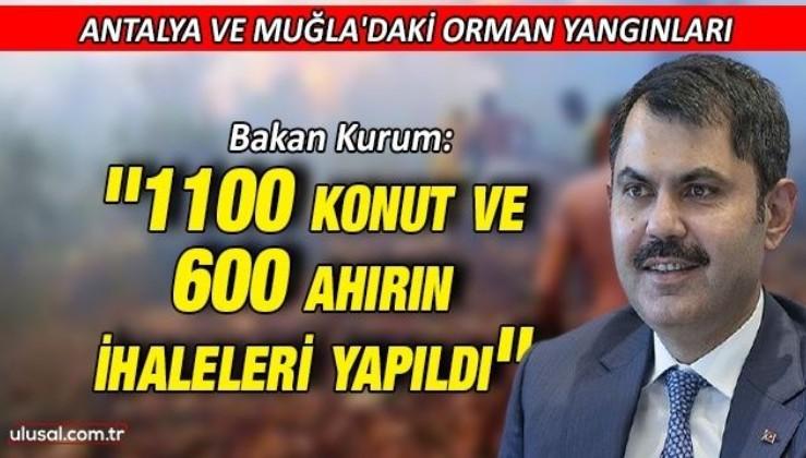 Bakan Kurum Antalya ve Muğla'daki orman yangınları hakkında konuştu: ''1100 konut ve 600 ahırın ihaleleri yapıldı''