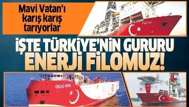 Mavi Vatan'ı karış karış tarıyorlar! İşte Türkiye'nin gururu enerji filomuz