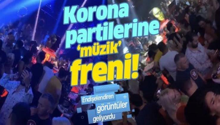 """Tepki çeken görüntüler sonrası düğmeye basıldı! Korona partilerine """"müzik"""" freni"""