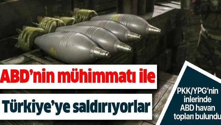 Barış Pınarı Harekatı ile ele geçirilen YPG/PKK'nın silah deposunda ABD'ye ait havan topları bulundu!