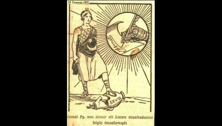 İsmet Paşa'nın demir eli Lozan muahedesini  böyle imzalamıştı.