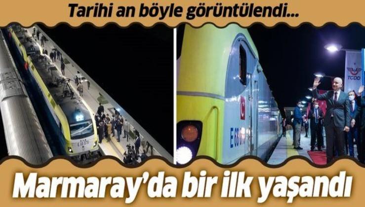 Marmaray tünelinden ilk...