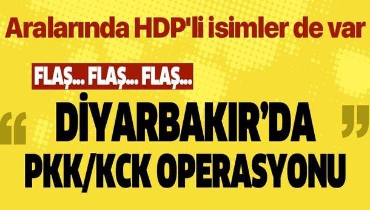 Son dakika: Diyarbakır'da PKK/KCK operasyonu: Aralarında HDP'li yönetici ve belediye meclis üyelerinin de bulunduğu 23 kişiyi gözaltı