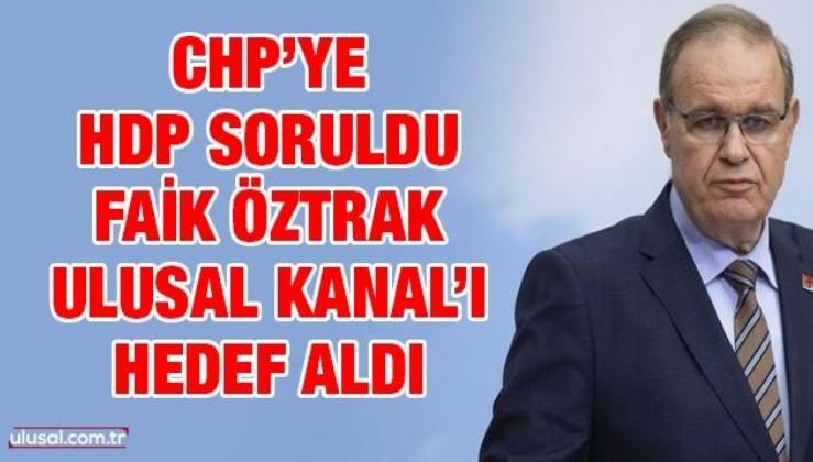CHP'ye HDPKK soruldu, Öztrak soruya yanıt vermek yerine bakın ne yaptı.