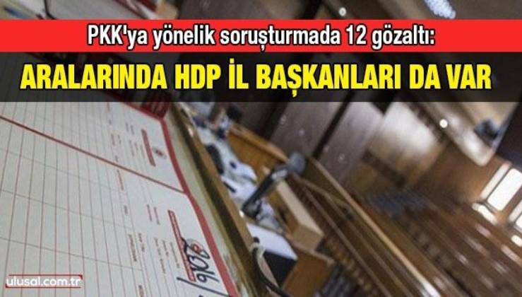 PKK'ya yönelik soruşturmada 12 gözaltı: Aralarında HDP il başkanları da var