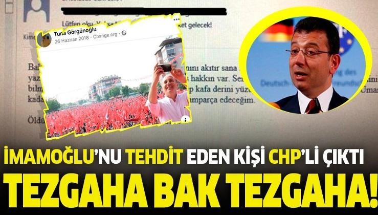 Ekrem İmamoğlu'nu tehdit ettiği iddia edilen Tuna Görgünoğlu CHP Etimesgut İlçe Başkanlığı üyesi çıktı!