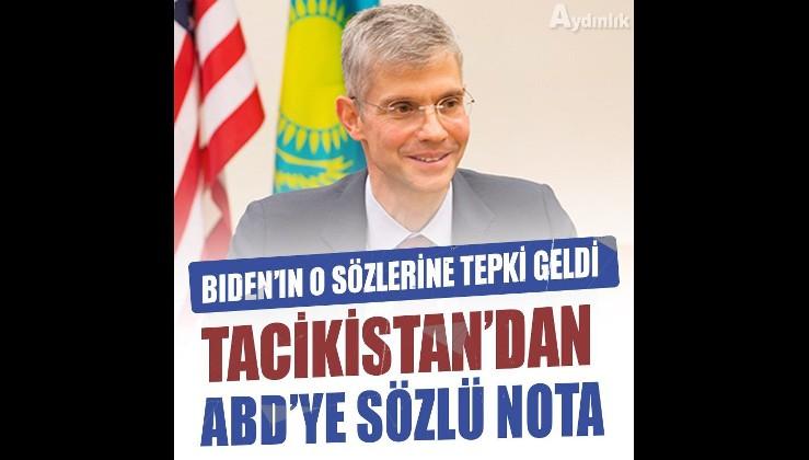 Tacikistan'dan ABD büyükelçisine sözlü nota