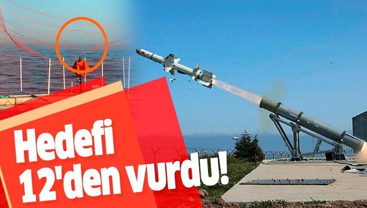 Türkiye'nin ilk deniz füzesi Atmaca hedefi başarıyla vurdu