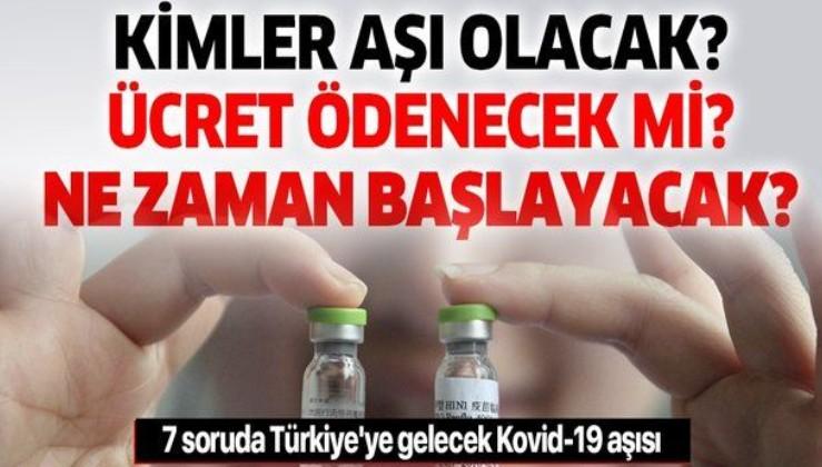 Kovid-19 aşısı Türkiye'ye ne zaman gelecek? Aşılamalar ne zaman başlayacak? Önce kimler aşılanacak? Ücret ödenecek mi?