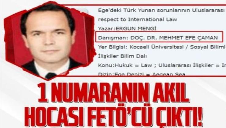 Bildirinin arkasındaki isim olan Ergun Mengi'nin tez danışmanı FETÖ'cü Mehmet Efe Çaman çıktı