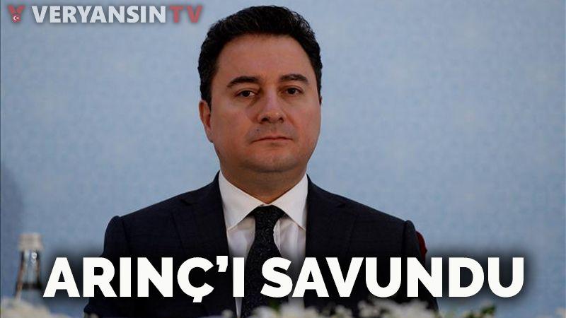 Ali Babacan Bülent Arınç'ı savundu