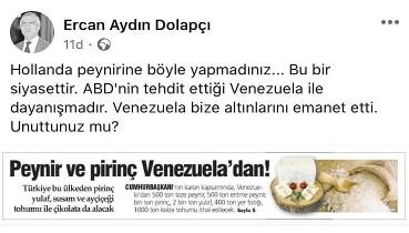 Altınlarını Türkiye'ye emanet eden ABD emperyalizmine direnen dost ülke Venezuela'ya karşı psikolojik savaş