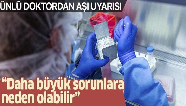 Prof. Dr. Mehmet Ceyhan'dan çok önemli aşı açıklaması!