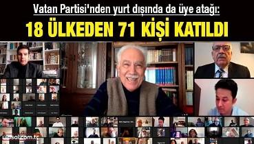 Vatan Partisi'nden yurt dışında da üye atağı: 18 ülkeden 71 kişi katıldı