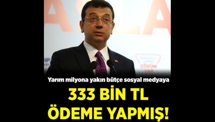 İmamoğlu'nun israf bilançosu artıyor: Facebook'a 333 bin TL reklam ödemesi!
