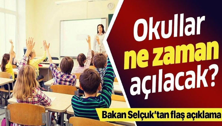 Son dakika: Milli Eğitim Bakanı Ziya Selçuk canlı yayında yanıtladı! Okullar ne zaman açılacak?