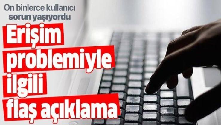 Türk Telekom'dan internet erişim problemiyle ilgili açıklama.