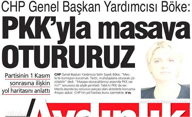 """""""PKK ile masaya otururuz"""" dedi CHP'li Böke"""