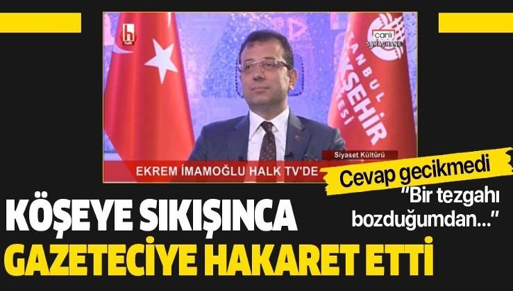 İBB Başkanı Ekrem İmamoğlu, canlı yayında Türkiye Gazetesi ile Türkiye Gazetesi yazarı Fuat Uğur'a hakaret etti