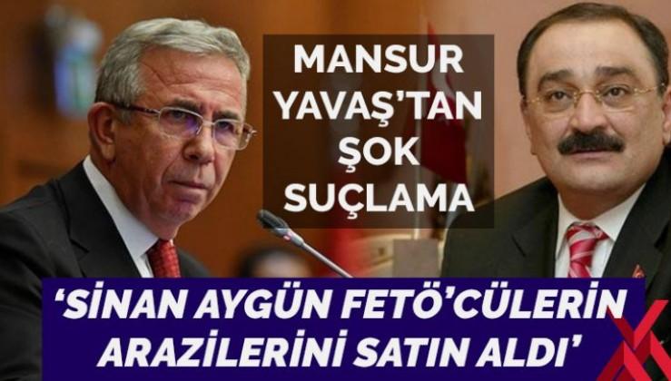Mansur Yavaş'tan Sinan Aygün'e FETÖ suçlaması: Firar edenlerin ev ve arsalarını aldı