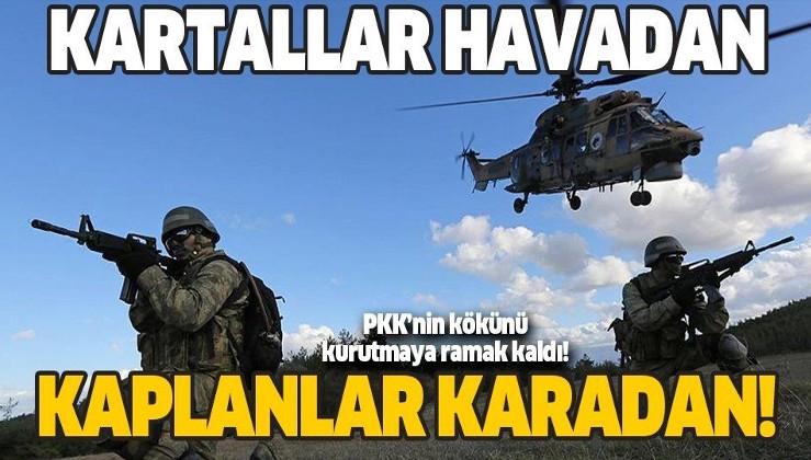 TSK'dan PKK'ya büyük darbe! Kaplanlar karadan girdi! Kartallar havadan vurdu!