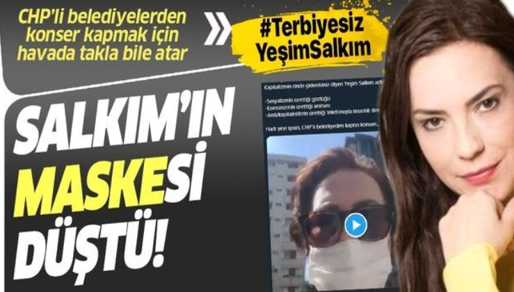 Yeşim Salkım'ın maske üreticileri ile ilgili skandal açıklamalarına sosyal medyadan büyük tepki