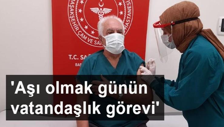 Doğu Perinçek, koronavirüs aşısı oldu