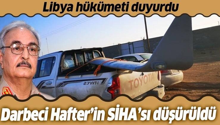 Libya'da UMH güçleri darbeci Hafter'e ait bir SİHA'yı düşürdü.