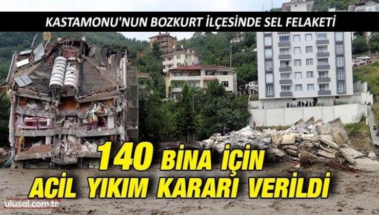 Kastamonu Bozkurt'ta 140 bina için acil yıkım kararı