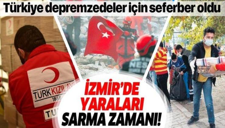 Türkiye İzmir'deki depremzedeler için tek yürek oldu