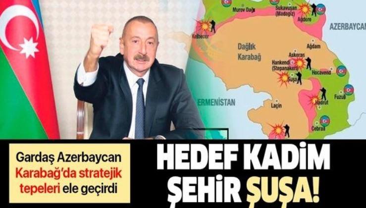 """Azerbaycan, Dağlık Karabağ'da stratejik tepeleri ele geçirdi: Hedefte """"Kadim medeniyet"""" Şuşa var"""