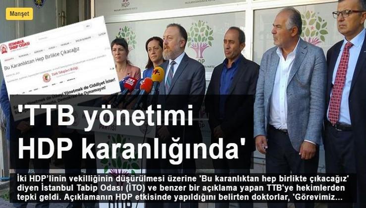 Cumhuriyetçi Hekimler tepkili: TTB yönetimi HDP karanlığında