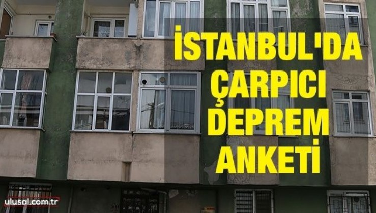 İstanbul'da çarpıcı deprem anketi
