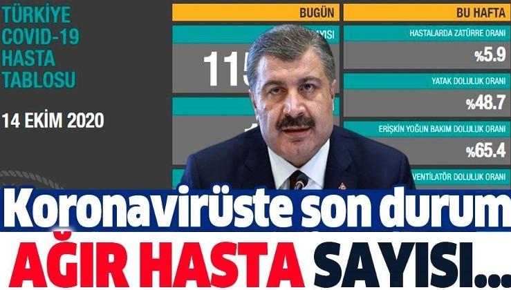 Son dakika: Koronavirüste son durum! Sağlık Bakanı Fahrettin Koca yeni tablo ile 14 Ekim koronavirüs vaka sayılarını duyurdu