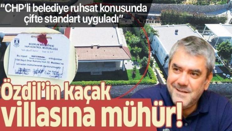 Yılmaz Özdil'in kaçak villasına mühür vuruldu