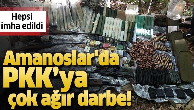 Amanoslar'da terör örgütüne ağır darbe! PKK'nın cephaneliği bulundu.